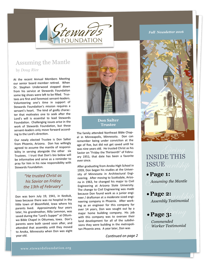 Newsletter | Stewards Foundation